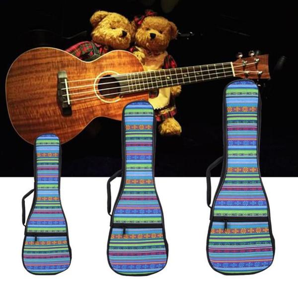 26 pulgadas de doble correa de mano lienzo popular ukelele llevar bolsa de algodón acolchado caso de ukelele partes de la guitarra accesorios nacionales
