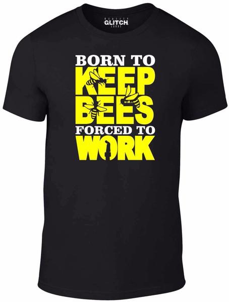 Erkek Doğan Arılar Testere Zorla Çalışmak T-shirt Komik Hediye Arı Bal Tutan Ücretsiz Nakliye Yaz Moda Arı