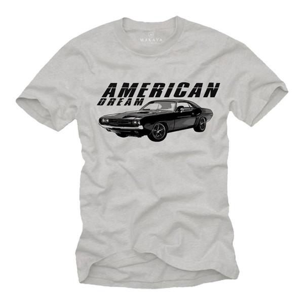 Street Classic Hommes T-shirt Avec American Muscle Car - Manches courtes Oldtimer Tee 2018 Nouvelle Arrivée De Mode Hommes Top Tee