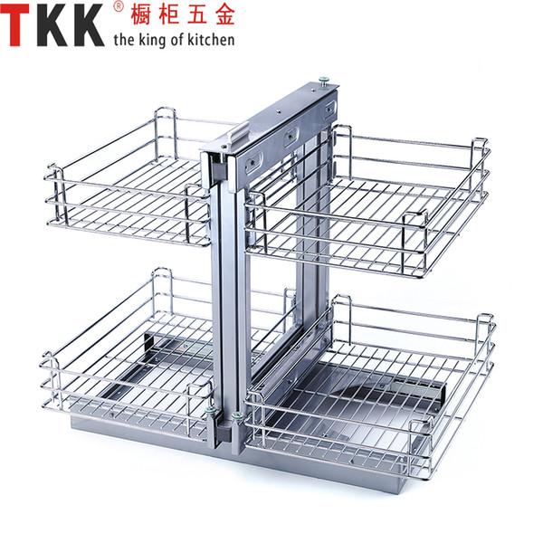 Großhandel TKK TR 90C Edelstahl TKK Schrank Hardware Volle Erweiterung  Magic Corner Eisen Chorme Plated Herausziehen Küche Korb Von Vingo668,  $69.66 ...