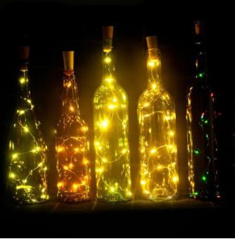 Festive & Party Supplies Red wine bottle stopper lamp string 1.4 meters 15led wine bottle lamp string Festival Party bottle lamp