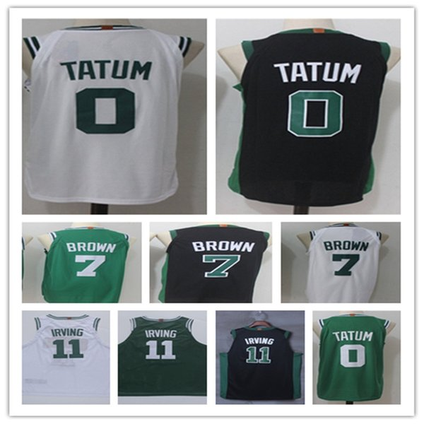 newest c5f96 32d06 2018 New Man 0# Jayson Tatum Jersey 11# Kyrie Irving100% Embroidery  Basketball Jerseys 7#jaylen Brown Tatum Green White Black Jersey From  Jdxia, ...