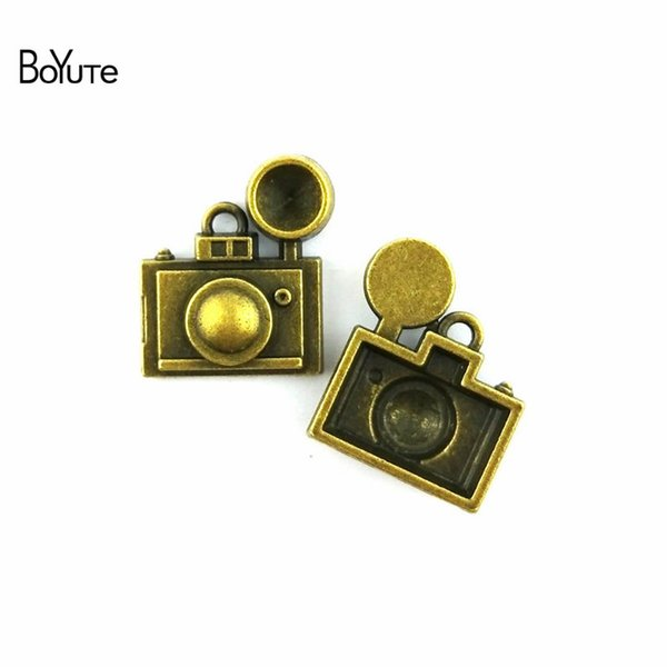 BoYuTe (20 Pieces /lot) 22*25MM Antique Bronze Plated Alloy Camera Charm Pendant Diy Metal Bracelet Necklace Jewelry Accessories Handmade