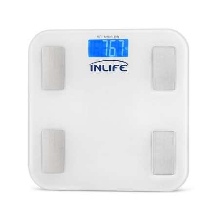 INLIFE Body Fat Scale Floor Scientific Smart Electronic LED Digital Weight Bathroom Balance with Bluetooth LCD Display