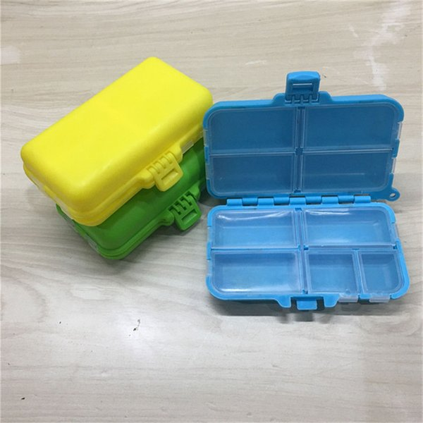 Utility Portable 8 Compartments Seal Folding Double Mini Medical Kit Plastic Fishing Tackle Fishing Tackle Box Jewelry Storage Boxes