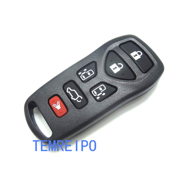5+1 button Replacement car key shell for nissan tiida qashqai X-TRAIL remote control key case fob
