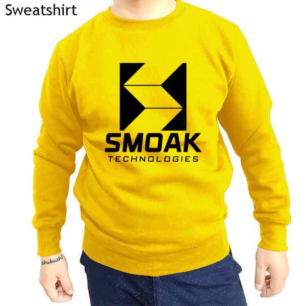Smoak Technologies-Star City 2046-branco shubuzhi homens o-pescoço hoodies new chegou outono fresco algodão impressão moda camisola