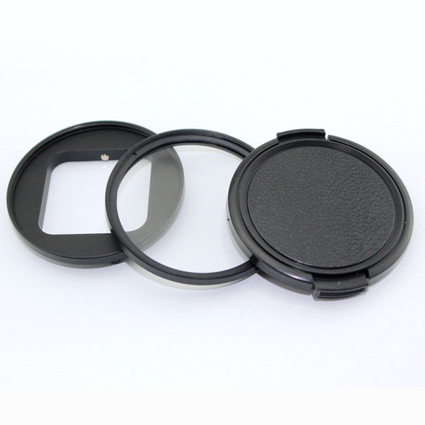 58mm Circular star 4 6 8 filter+lens cover+connect ring kit for Hero 5 4 session action camera