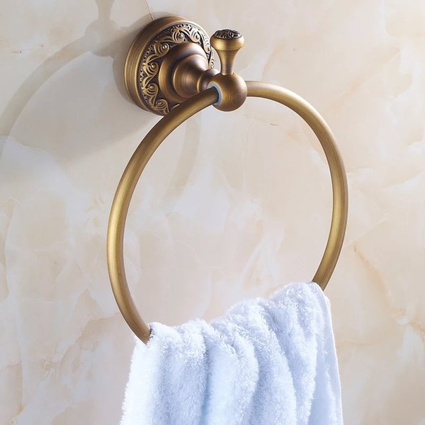 best selling New Arrival Euro style Wal-mount Antique Bronze Towel Ring Classic Bathroom Accessories Bath Towel Holder Bath Hardware