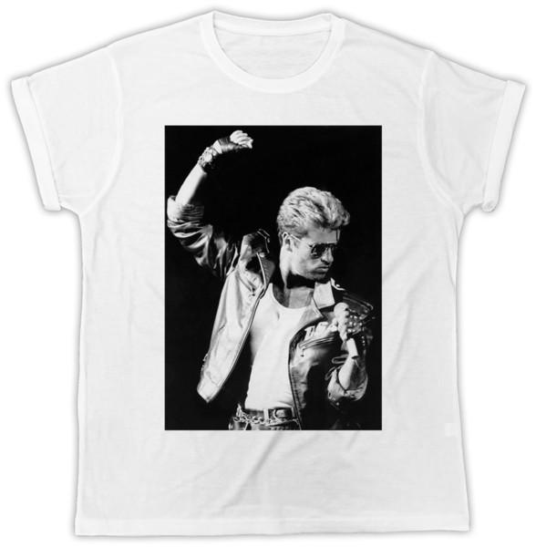 GEORGE MICHAEL MIC IDEAL REGALO CUMPLEAÑOS PRESENTE UNISEX COOL RETRO T SHIRT Divertido envío gratis Unisex Casual camiseta de regalo