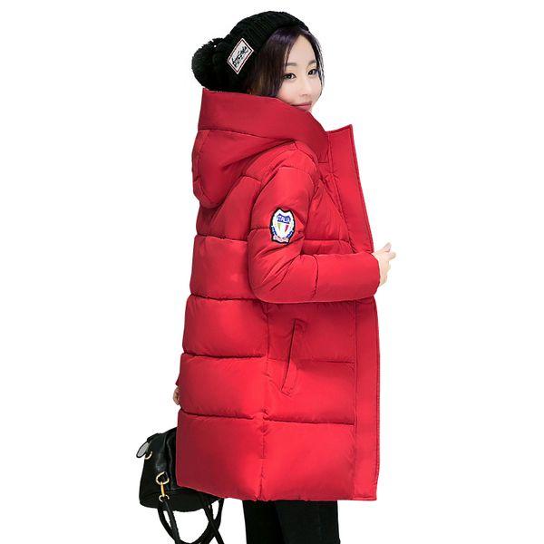 2018 New Long Parkas Female Women Winter Coat Thick Warm Cotton Hooded Jacket Womens Outerwear Parkas for Women Winter Outwear