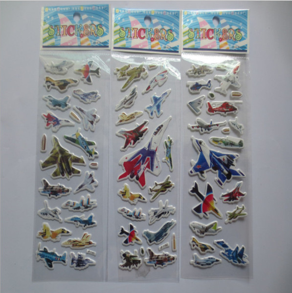 Boys Airplane Sticers Cartoon PVC Sticker for kids children children's day chirstmas gifts