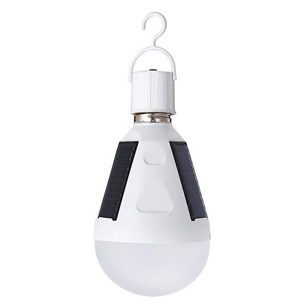 2018 neue wiederaufladbare Solarbirne E27 85-265V energiesparende Licht LED intelligente Lampe wiederaufladbare Solar Camping Notfall