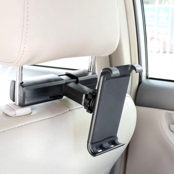 Автомобильная задняя подушка для телефона Держатель для планшета Подставка для автомобиля Задний подголовник Кронштейн для IPhone X 8 XS IPad Mini Tablet 4-11 дюймов