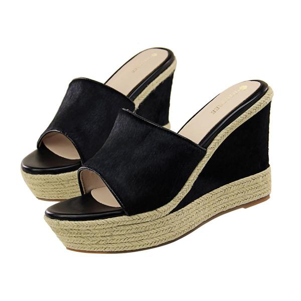 Flip Flops Sandals Slippers Women Heels Pumps Open Toe High Heels Casual Home Shoes Formal Pumps Wedge Sandals GWS507