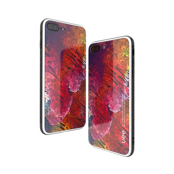Caja del teléfono de cristal pintado para mujer y niña para el iphone XS Max XR 6s Plus 7 8 Plus x Caja del teléfono celular Protector de la contraportada a prueba de golpes