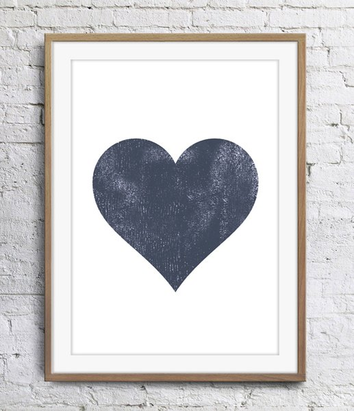 Motivational Inspirational Quotes The Heart Art Poster Wall Decor Pictures Art Print Poster Unframe 16 24 36 47 Inches