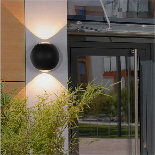Lampe de mur de LED Creative 12W en forme de boule en aluminium étanche Outdoor Wall Light Studio mordern Décoration