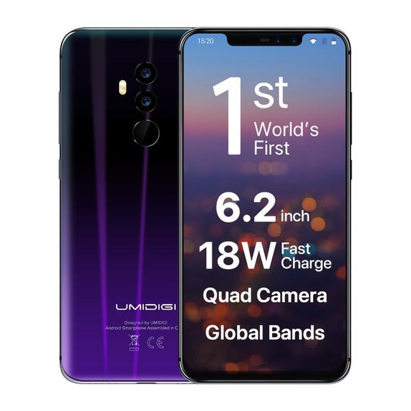 "UMIDIGI Z2 Global Version Helio P23 6GB RAM 64GB ROM 6.2"" FHD+ Full Screen Quad Camera Android 8.1 3850mah Face ID 4G Smartphone"