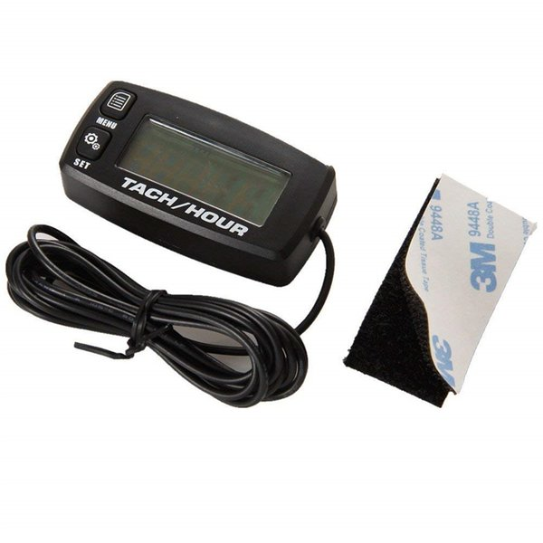Impermeable Retroiluminación LCD Digital Restablecer Inductivo Tacho Horómetro Tacómetro Para 2 o 4 Motocicletas Movimiento
