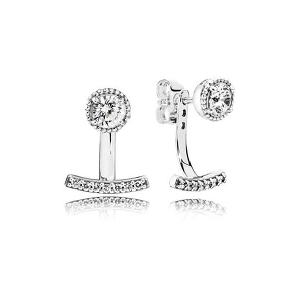 WinTion PAN 100% s925 charme en argent sterling dangler original cadeau de Noël femmes zircon boucles d'oreilles ventes directes d'usine