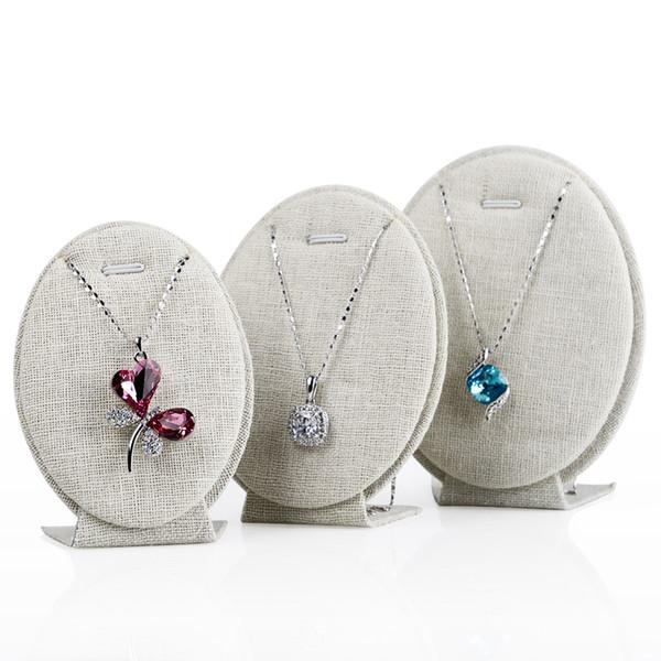 Esposizione ovale dei gioielli dei gioielli di forma dell'uovo della visualizzazione della collana dell'esposizione della collana del pendente dei gioielli per l'esposizione fiera del mercato dell'artigianato del chiosco della vetrina