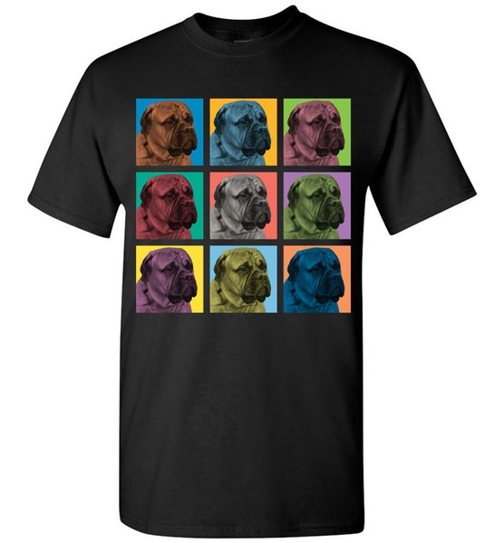 Bullmastiff Dog Pop-Blocks T-Shirt - Men Women Youth Tank Long Sleeve Tee