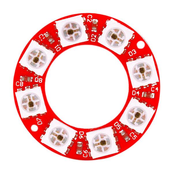 KEYES WS2812 Placa Circular de 8 bits de cor RGB módulo integral (PCB vermelho)