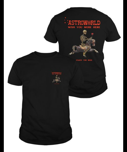 69f2b9577932 Astroworld Season Pass Shirt Astroworld Wish You Were Here Black Cotton Men  Tee Mens 2018 fashionable