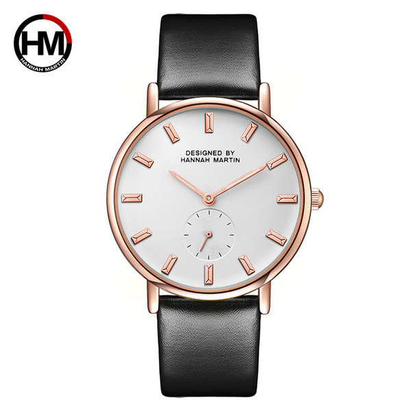 DHL 2018 new quartz watch for lady two-pin semi-small dial women wrist watches Japanese movement simple casual fashion leather 2138-CB