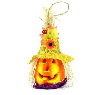 Factory Direct Halloween Decoration Halloween Cute Pumpkin Scarecrow LED Light Party Haunted House Decor Prop New Toy Novelty