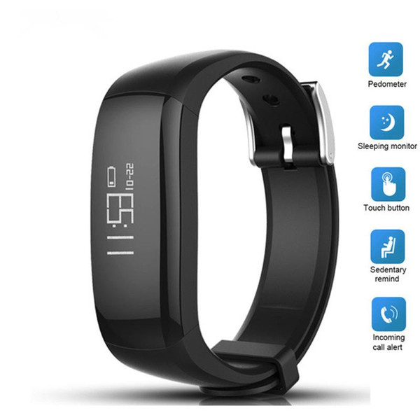 2018 Newest P6 Smart Band Vibrating Alarm Bracelet Calorie Counting Wristband Bluetooth Fitness Tracker Clock pk fitbits Miband2