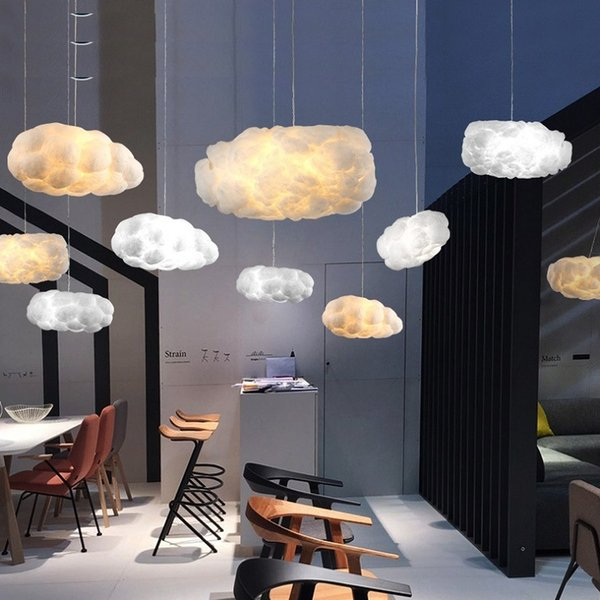 floating white cloud chandelier decorative clouds light hotel lobby rh m dhgate com