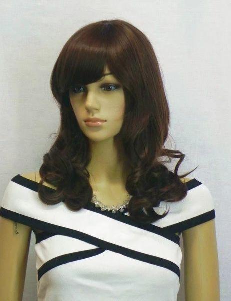 Women's Medium Straight Full white black orange color Wig Synthetic light dark blue yellow short hair Hair Cosplay Party Anime Hair Wigs