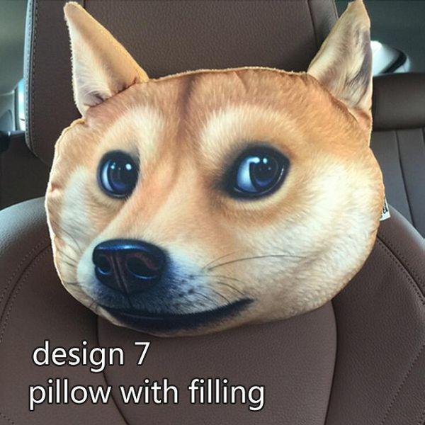 conception 7 oreiller avec remplissage