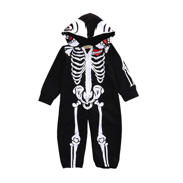 cute one-piece baby romper funny Halloween skeleton cotton onesie jumpsuit for 0-24Month baby newborn infant bodysuit clothes