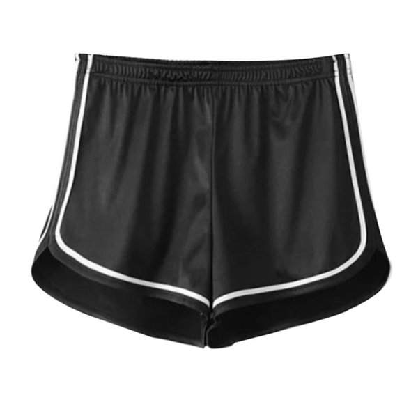 Female Shorts High Waist Glossy Smooth Sports Fitness Shorts Elastic Waistband Loose Short Pants for Summer Hot