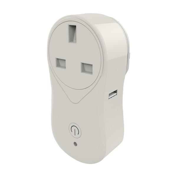Enchufe inteligente Mini zócalo wifi EE.UU. Reino Unido Enchufe de la UE Control remoto Interruptor de tiempo de la tira de energía funciona con Amazon Alexa Echo