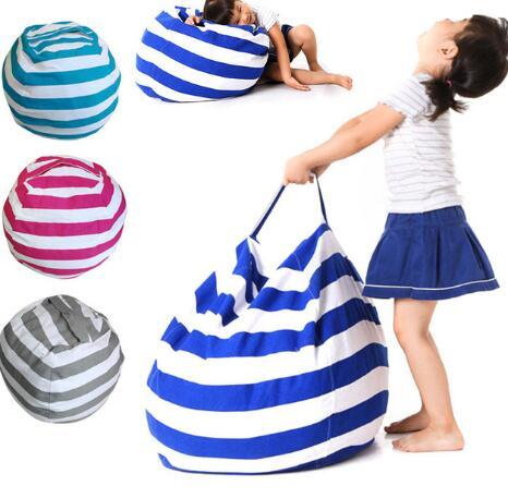 Stuffed Animal Bean Bags Portable Storage Bags Chair Kids Children Toy Portable Storage Bag Play Mat Clothes Organizer Tool KKA3669