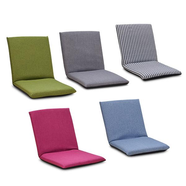 Chaise de sol pliable relaxant Canap/é-lit paresseux avec plusieurs salon r/églable Lounge Lounger Sleeper Futon Matelas Seat Chair w//oreiller Color : White