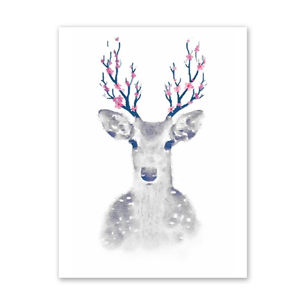 Deer Modern Art Oil Painting Canvas Print Wall Picture Home Room Decor Unframed