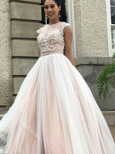 2018 New Light Pink Kleid Kleid Junoesque Jewel Sleeveless Abendkleid Perlen Lace Backless Party Dress