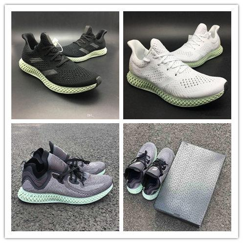New AlphaEdge 4D LTD Print Technology Running Shoes Ash Green Black White Mens Fashion Designer Sneakers Sport Shoes With Box