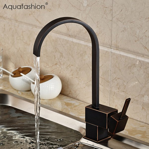 2019 Vintage Black Kitchen Faucet Oil Rubbed Bronze Kitchen Mixer Single Handle Black Faucet For Sink From Hariold 59 94 Dhgate Com