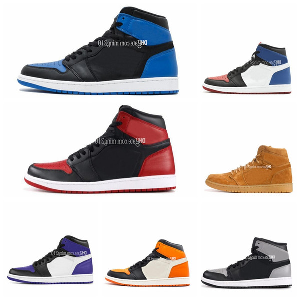with box mens basketball shoes sneakers 1 OG Top Men Basketball Shoes OG Sneakers Mandarin duck Trainers mens shoes size 13