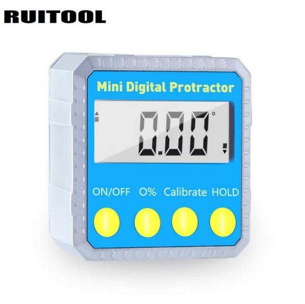 best selling 4*90 Degree Mini Digital Protractor Inclinometer Metal Angle Finder Level Gauge Magnetic Base Measuring Tools