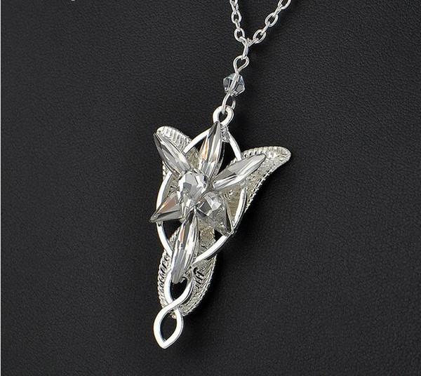 Colares pingente Evenstar para as mulheres arwen gargantilhas de cristal colar Hobbit filmes de prata banhado a moda jóias