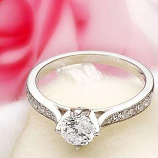 2019 Free Shipping Fine US GIA certificate 18K white gold 1 ct moissanite engagement rings for women,hearts and arrows,wedding diamond rings