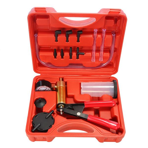 2 in 1 Car Brake Fluid Bleeder Hand Held Vacuum Pistol Pump Tester Kit DIY brake bleeder Designed for All Vehicles
