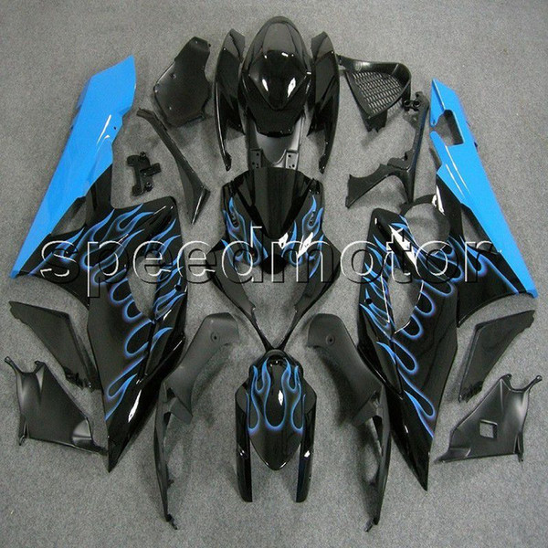 23colors+Gifts Injection mold light blue flames GSXR1000 2005 2006 motorcycle cowl Fairing for Suzuki GSX-R 1000 05 06 K5 ABS plastic kit